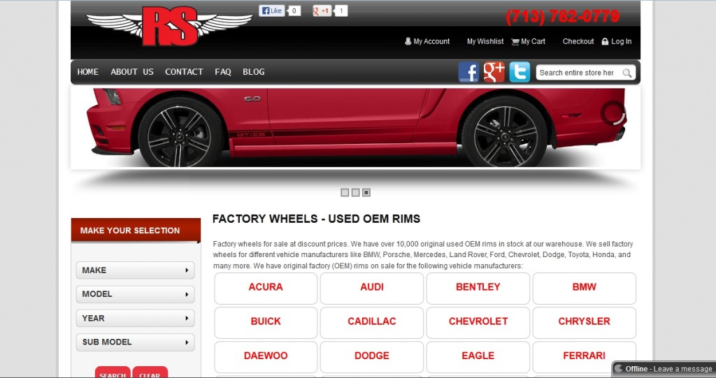 Used Factory Wheels SEO Case Study